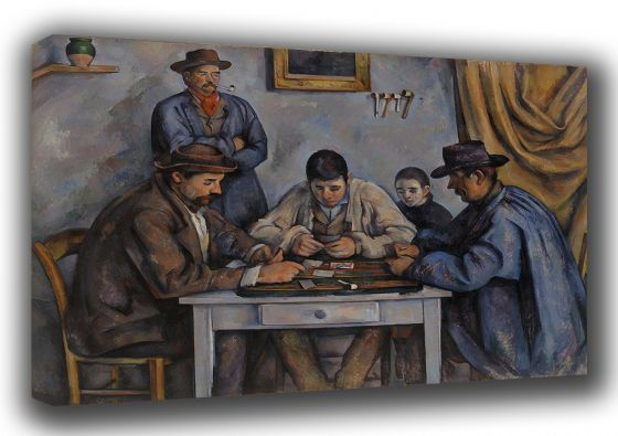 Cezanne, Paul: The Card Players. Fine Art Canvas. Sizes: A3/A2/A1 (00169)